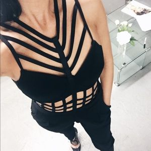 Pants - 🌹Black Strapy Jumpsuit Sleeveless Solid Evening